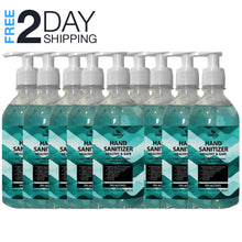 Load image into Gallery viewer, Hand Sanitizer with Pump 16.09 oz Pack of 9 FDA Approved Antibacterial Gel 70% alcohol