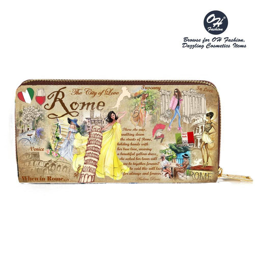 OH Fashion When in Rome Wallet - superfashionwholesaler