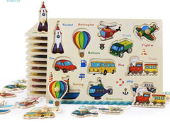 Montessori Wooden Puzzles -  | Club Xavier
