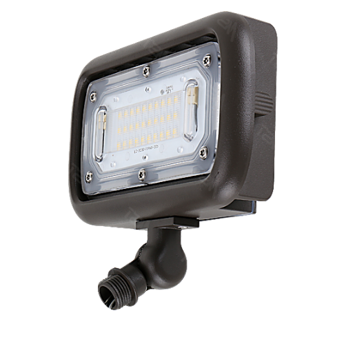 LED Mini Flood Light 45W 5000K Bronze with Knuckle Mount