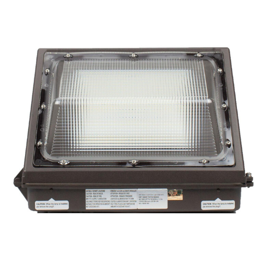 LED Semi Cut-Off Wall Pack Light 120W 5000K with Photocell