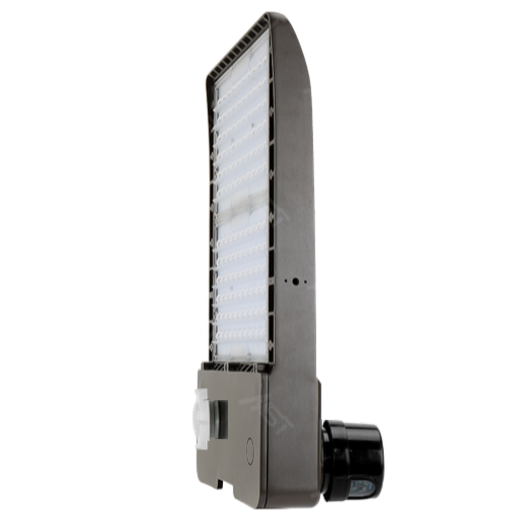 LED Shoebox Area Light 250W 5000K T3 Bronze with Photocell
