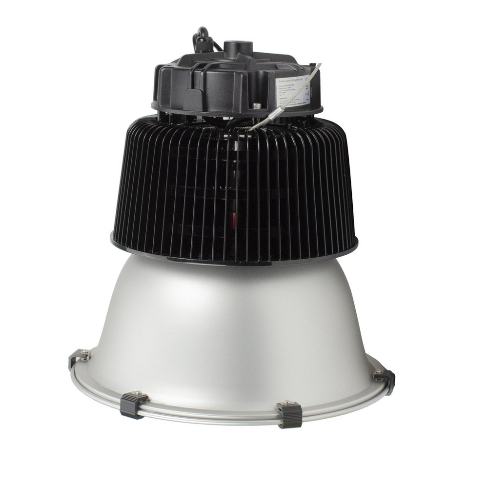 LED-Traditional-High-Bay-Light-Silver-Black-Front-View