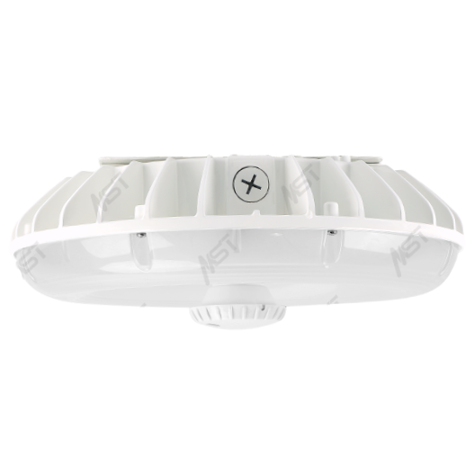 LED Canopy Light 45W 5000K White Frosted Parking Garage Lens Dimmable with Bi-level Motion Sensor