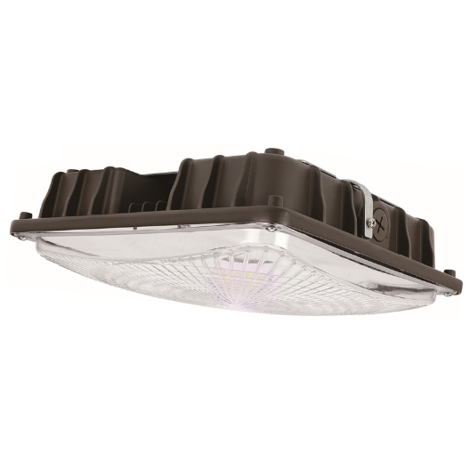 LED Canopy Light 40W 5000K Bronze Clear Lens