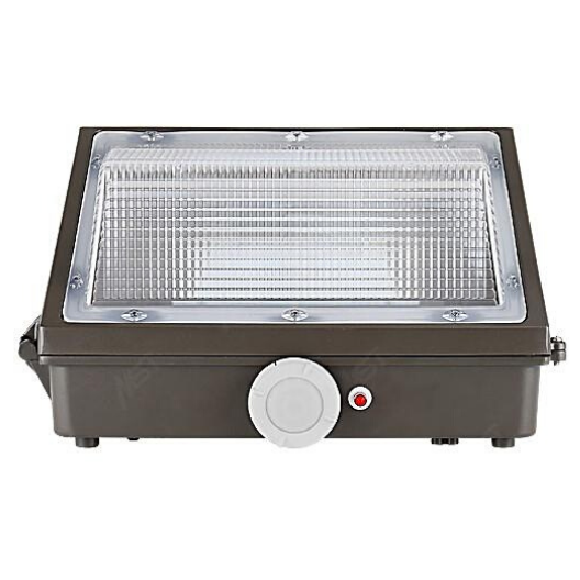 LED Wall Pack Light 90W 5000K Bronze Clear Lens Dimmable