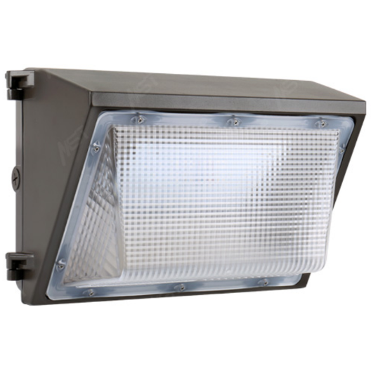LED Wall Pack Light 65W 5000K Bronze Clear Lens