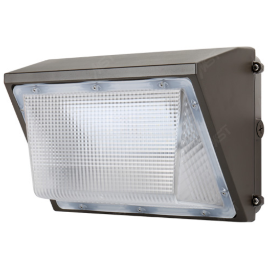 LED Wall Pack Light 65W 5000K Bronze Clear Lens with Photocell
