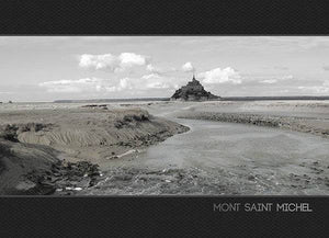 Carbone, photos du Mont Saint-Michel - Coffret de 6 cartes de correspondance et 6 enveloppes