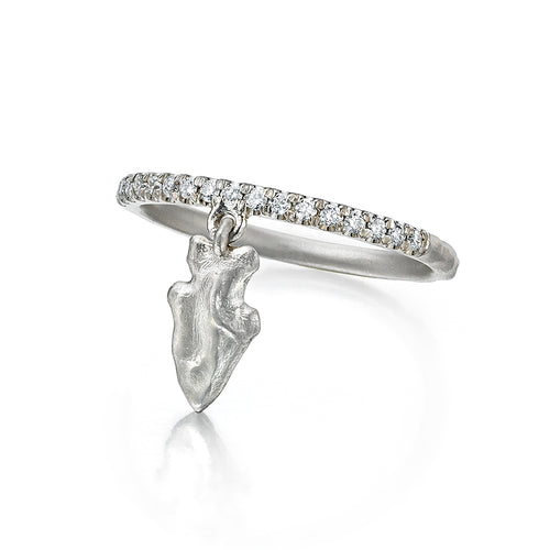 Arrowhead Charm Ring