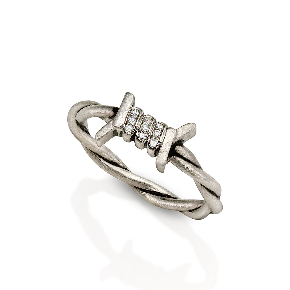 Barbed Wire Stacking Ring - Twist