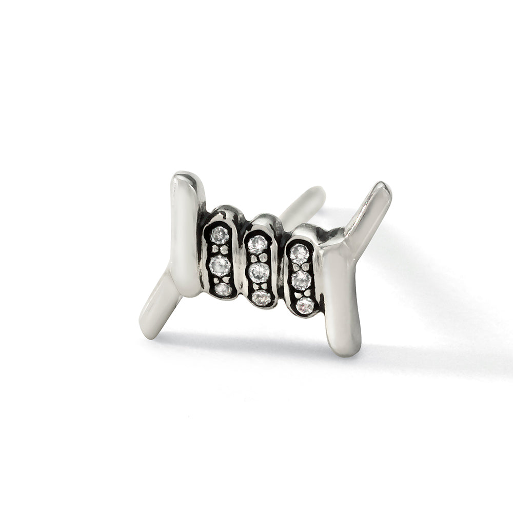 Barbed Wire Stud Single Earring