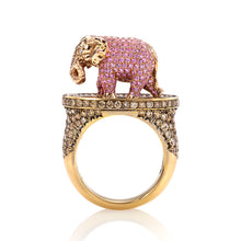 Load image into Gallery viewer, Maneater Ring: Pink Elephant and Tipsy Writer