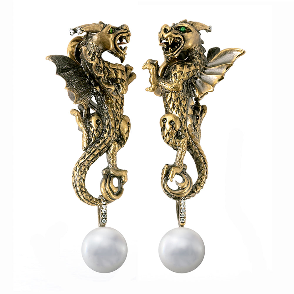 Empress Wu Dragon Earrings