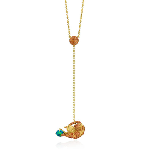 Favorite Feline Cat Lariat Necklace