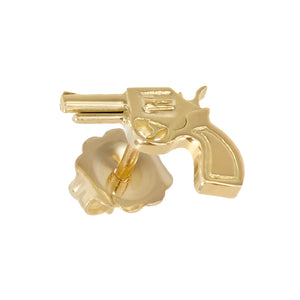 Gun Emoji Stud Single Earring