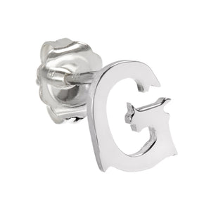 Letter Stud Single Earring
