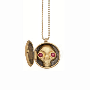 Juana Peekaboo Skull Locket - Heart