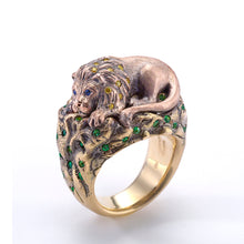 Load image into Gallery viewer, Maneater Ring: Lion and Hunter