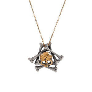 Memento Mori Skull and Bones Necklace