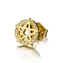 Load image into Gallery viewer, Pentagram Stud Single Earring