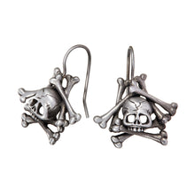 Load image into Gallery viewer, Memento Mori Skull and Bones Earrings