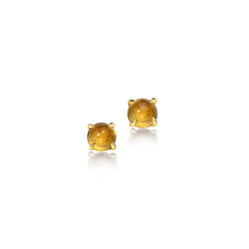 Citrine Birthstone Stud Earrings
