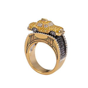Maneater Ring: NYC Taxi and Passenger