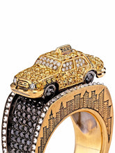 Load image into Gallery viewer, Maneater Ring: NYC Taxi and Passenger