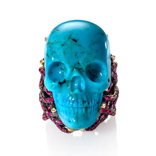 Load image into Gallery viewer, Turquoise Skull Ring