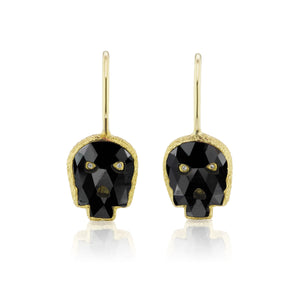 Carpe Diem Mini Skull Drop Earrings