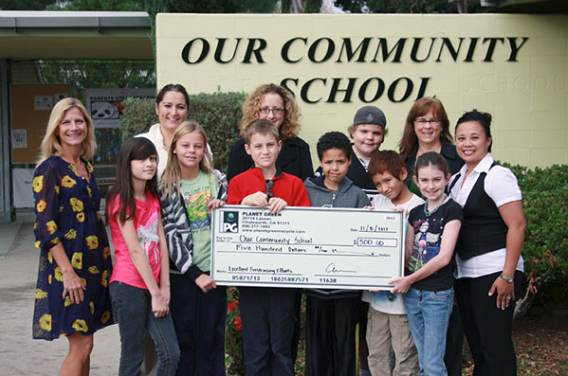 school raising funds with Planet Green
