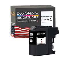 Load image into Gallery viewer, DoorStepInk Remanufactured in the USA Ink Cartridge for Brother LC101BK Black