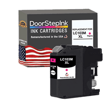 Load image into Gallery viewer, DoorStepInk Remanufactured in the USA Ink Cartridge for Brother LC103M XL High Yield Magenta