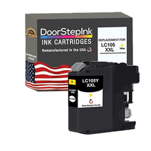 Load image into Gallery viewer, DoorStepInk Remanufactured in the USA Ink Cartridge for Brother LC105Y XXL Super High Yield Yellow