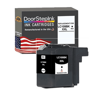 DoorStepInk Remanufactured in the USA Ink Cartridges for Brother LC109BK XXL Super High Yield Black