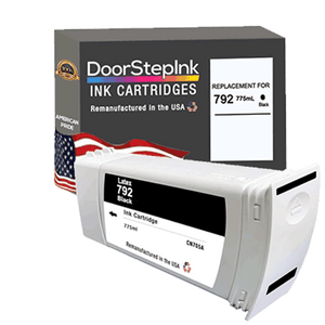 DoorStepInk Remanufactured in the USA Ink Cartridge for HP 792 775mL Black
