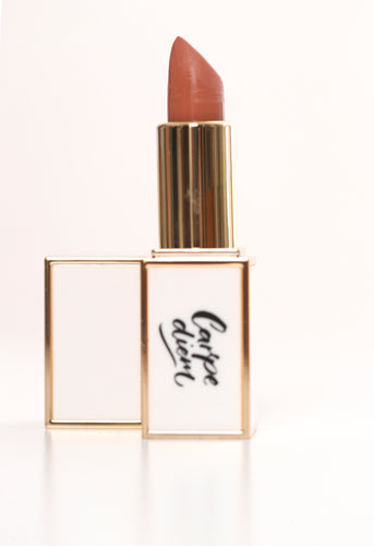 Carpe Diem Lipstick #2 Lauren (a more pigmented nude family tone with more coral)