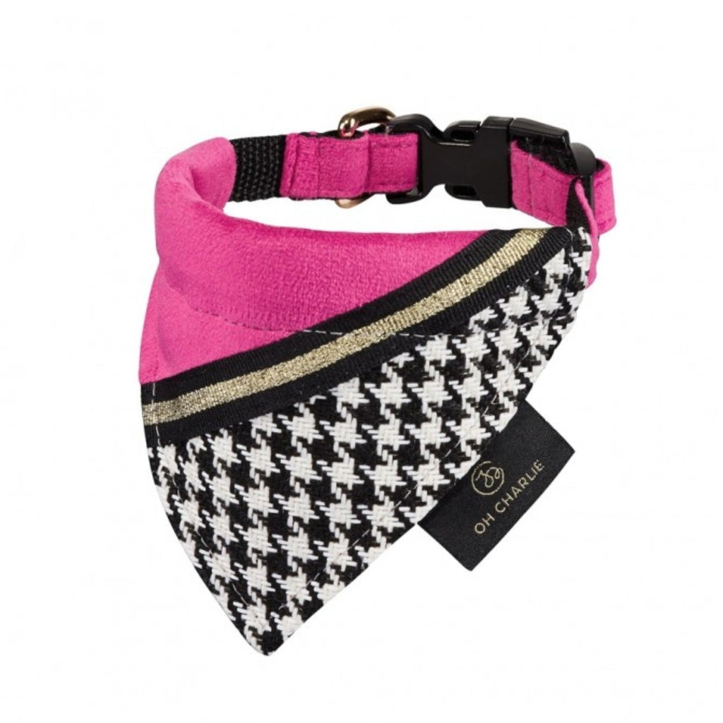 FASHION bandana - sort/pink