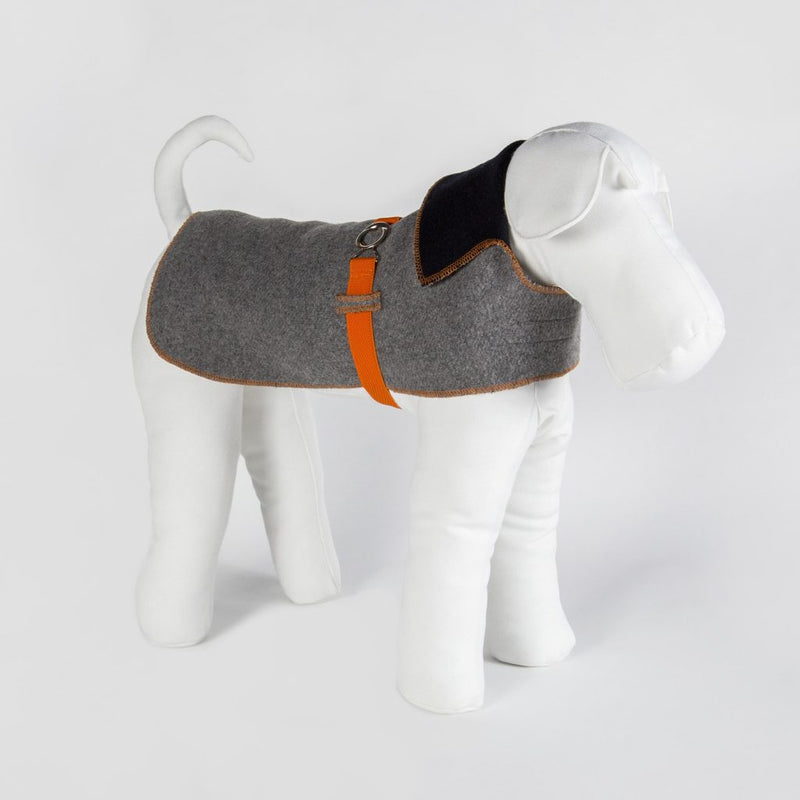 BESPOKE hundejakke - grå/orange