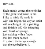 Bright Stain poem Revision