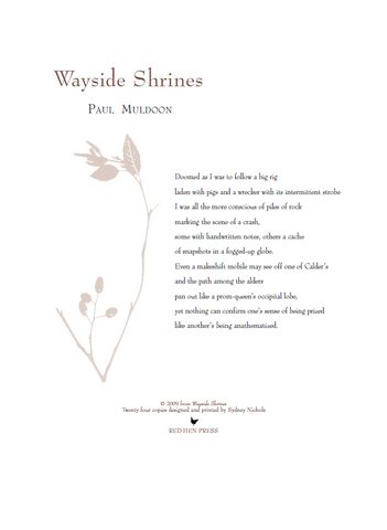 Wayside Shrines broadside