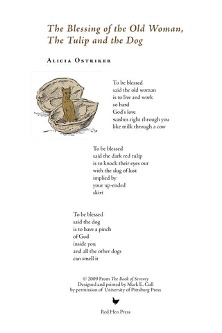 The Blessing of the Old Woman... by Alicia Ostriker SIGNED