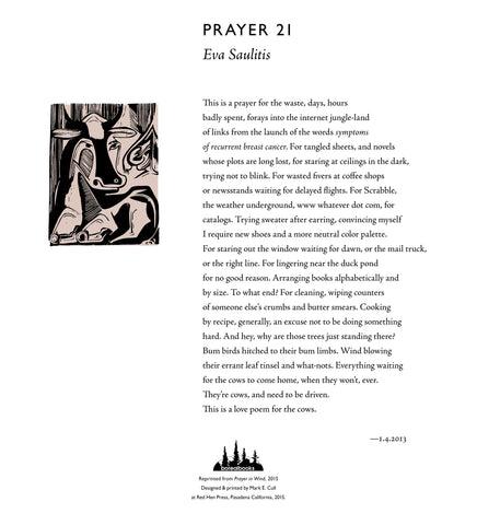Prayer 21 by Eva Saulitis SIGNED