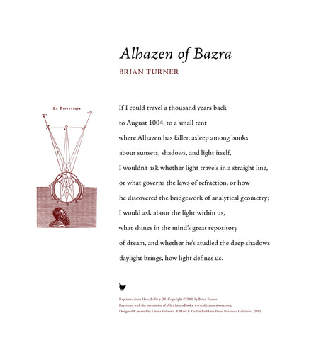 Alhazen of Bazra by Brian Turner SIGNED