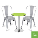 Outdoor Dining Bistro Set - Ashburn Circular Table and 2 x Greenford Chairs