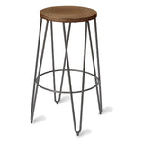 Temple Bar Stool with Steel Leg