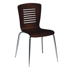 Victoria Dining Chair with Chrome Leg