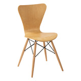 Ealing Side Chair with Wooden Leg