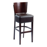 Boston Wood Frame High Stool